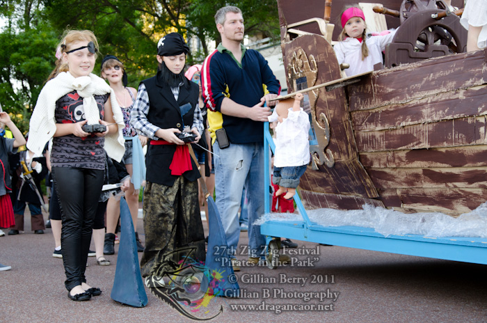 2011 Pirates in the Park had a pirate ship and sharks