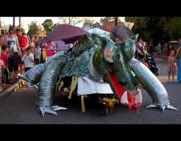 Still image of 2012 Dragon float at the Gumnut Roundabout