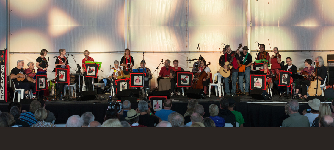 Black Chook Chutney on stage at Fairbright Festival 2015